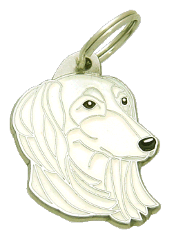 SALUKI WHITE - pet ID tag, dog ID tags, pet tags, personalized pet tags MjavHov - engraved pet tags online